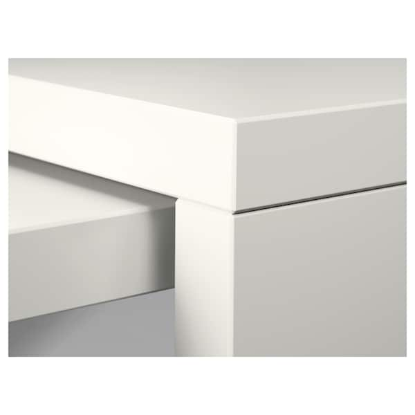 MALM bureau avec tablette coulissante blanc 151 cm 65 cm 73 cm 50 kg