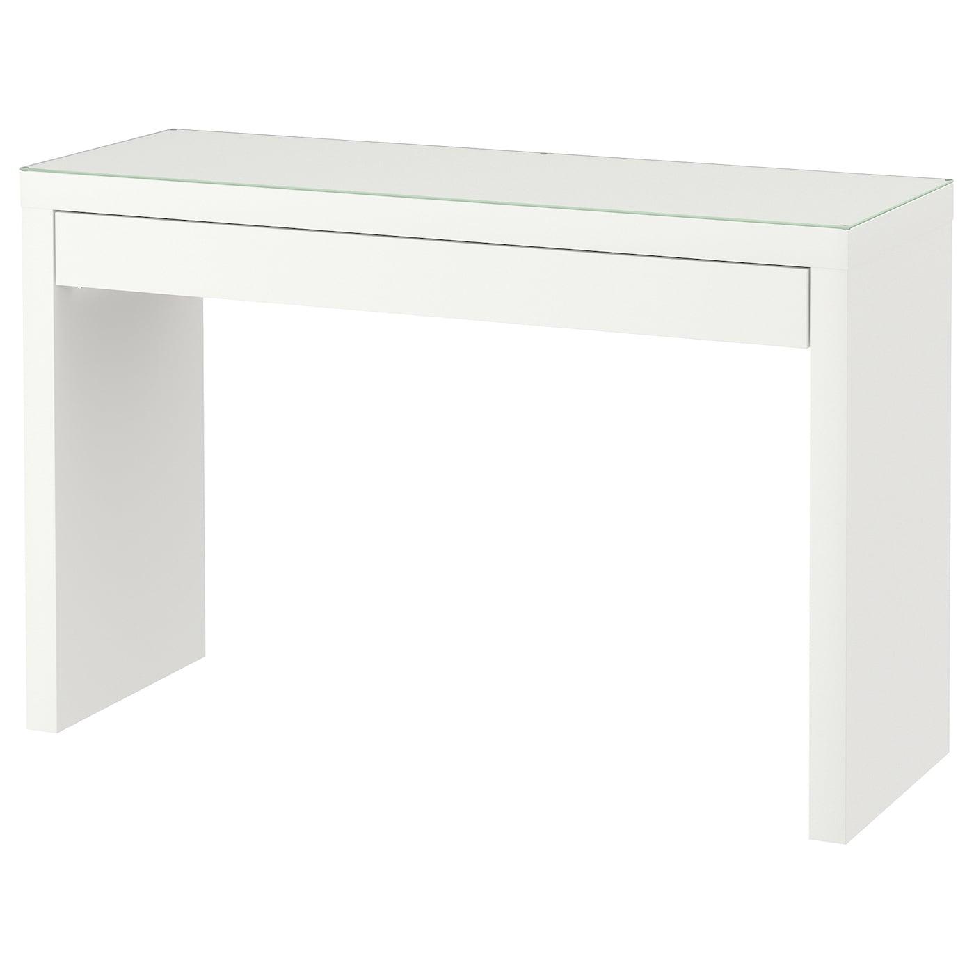 Ikea Meuble Blanc Laqué malm coiffeuse - blanc 120x41 cm