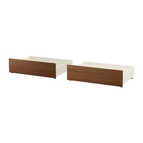 malm rangement pr lit haut teint brun plaqu fr ne ikea. Black Bedroom Furniture Sets. Home Design Ideas
