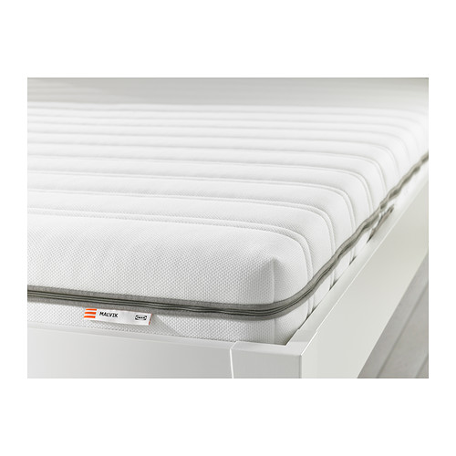 malvik matelas en mousse 140x190 cm ferme blanc ikea. Black Bedroom Furniture Sets. Home Design Ideas