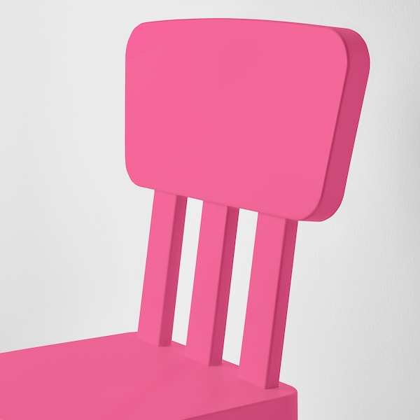 MAMMUT Chaise enfant, intérieur/extérieur/rose