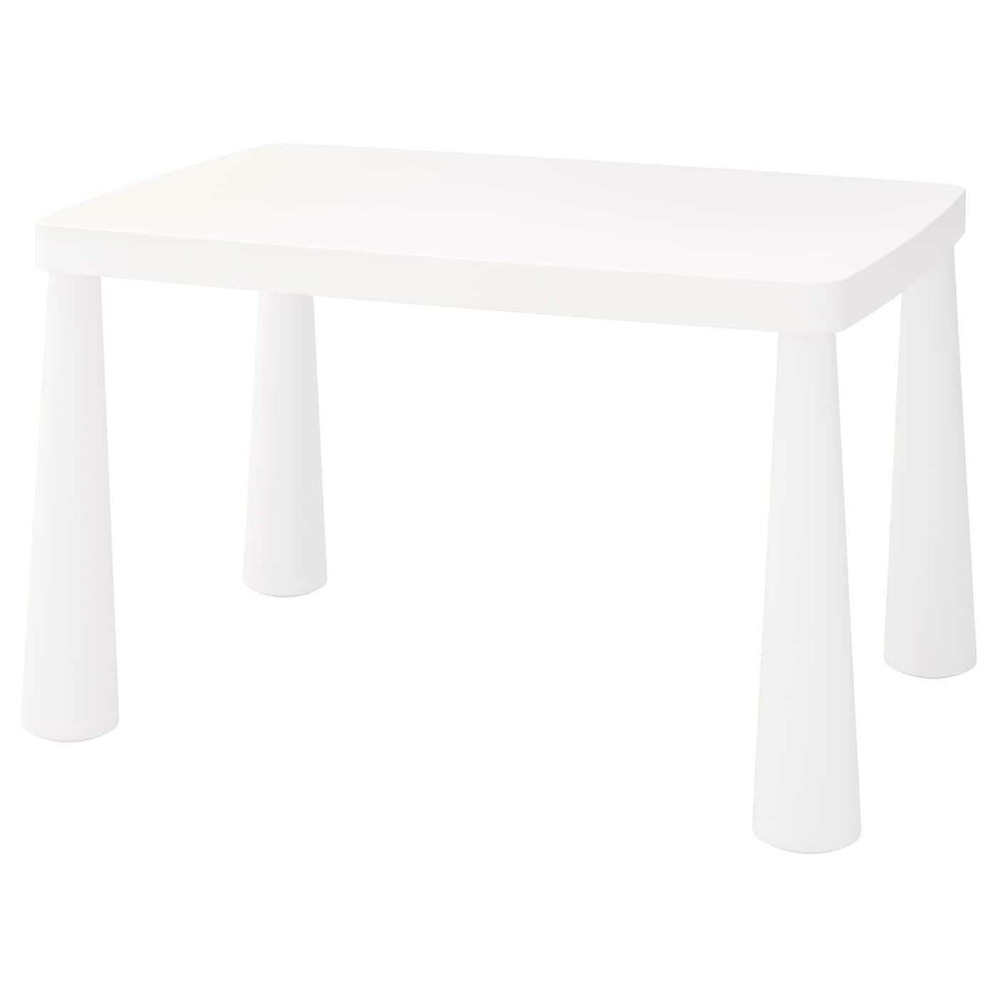 MAMMUT Table enfant - intérieur/extérieur blanc 6x6 cm