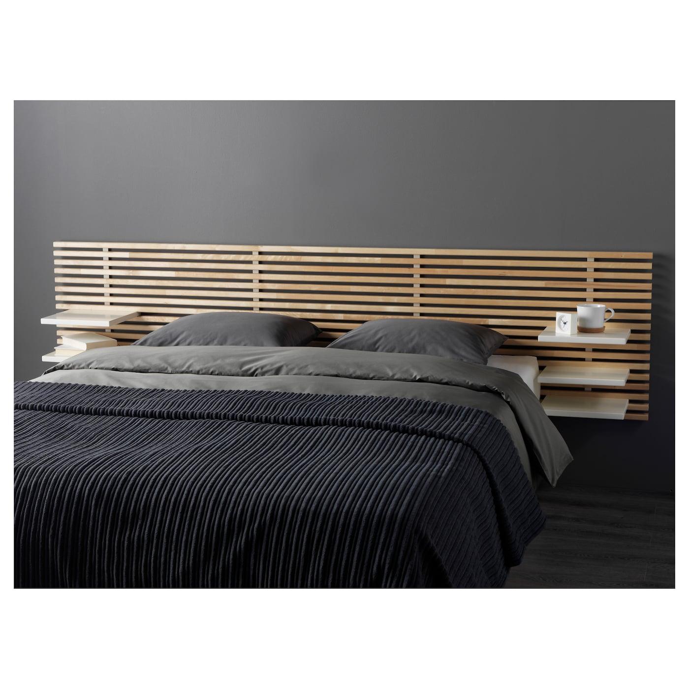 Tete De Lit Ikea Bois mandal tête de lit - bouleau, blanc 240 cm