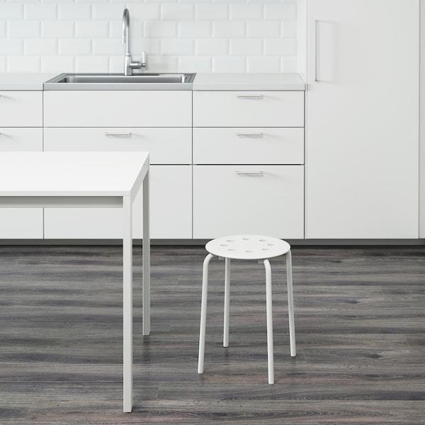 MARIUS Tabouret, blanc, 45 cm