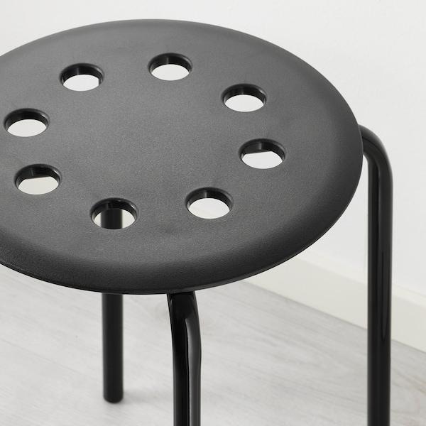 MARIUS Tabouret, noir, 45 cm