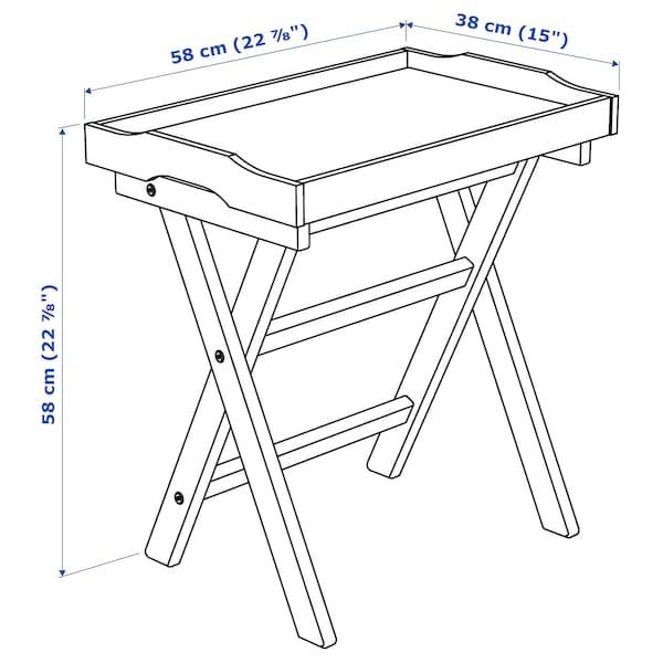 MARYD Table/plateau, gris, 58x38x58 cm