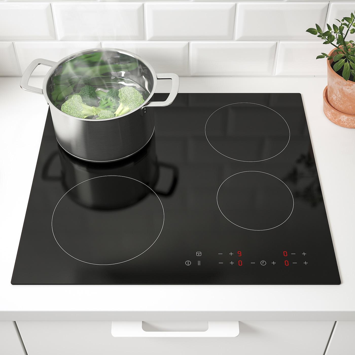 Comment Differencier Induction Et Vitroceramique matmÄssig table de cuisson vitrocéramique - noir 59 cm