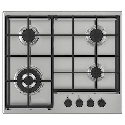 MATMÄSSIG Table de cuisson à gaz, acier inoxydable, 60 cm