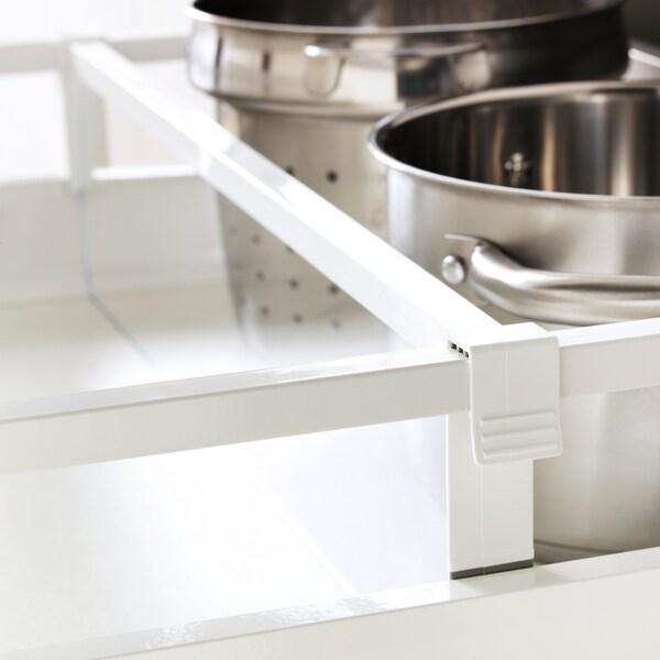 Maximera Separateur Pour Tiroir Moyen Blanc Transparent 60 Cm
