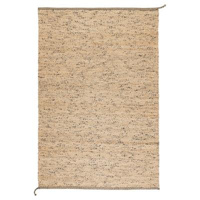 MELHOLT tapis tissé à plat fait main naturel/bleu foncé 195 cm 133 cm 5 mm 2.59 m² 2200 g/m²