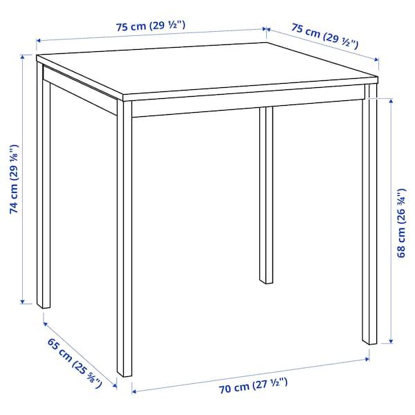 MELLTORP Table, blanc, 75x75 cm