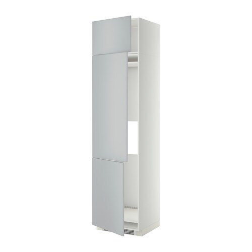 Metod Arm R Fr Cong 3 Ptes Blanc Veddinge Gris 60x60x240 Cm Ikea