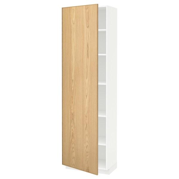 Metod Armoire Avec Tablettes Blanc Ekestad Chene 60x37x200 Cm Ikea