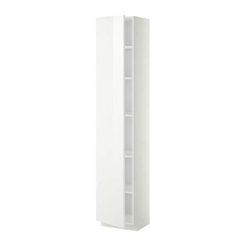 metod armoire avec tablettes blanc ringhult brillant blanc 40x37x200 cm ikea. Black Bedroom Furniture Sets. Home Design Ideas