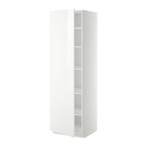 metod armoire avec tablettes blanc ringhult brillant blanc 60x60x200 cm ikea. Black Bedroom Furniture Sets. Home Design Ideas