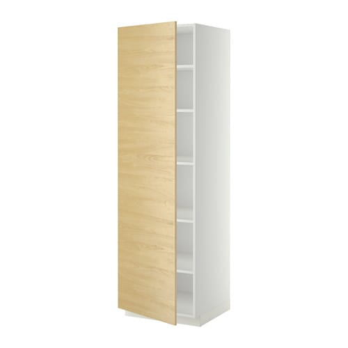 metod armoire avec tablettes blanc tingsryd motif bouleau 60x60x200 cm ikea. Black Bedroom Furniture Sets. Home Design Ideas
