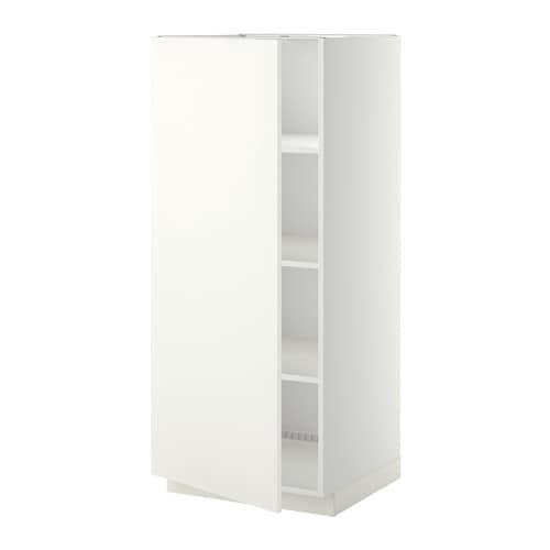 metod armoire avec tablettes blanc h ggeby blanc ikea. Black Bedroom Furniture Sets. Home Design Ideas