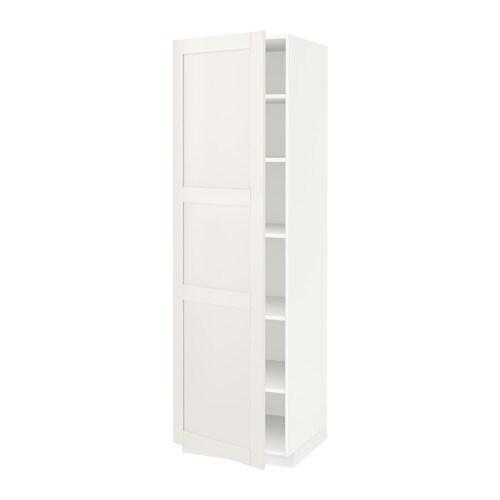 metod armoire avec tablettes blanc s vedal blanc 60x60x200 cm ikea. Black Bedroom Furniture Sets. Home Design Ideas