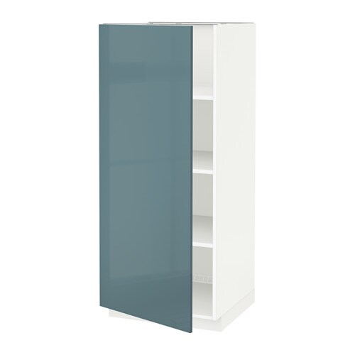 metod armoire avec tablettes blanc kallarp brillant gris turquoise ikea. Black Bedroom Furniture Sets. Home Design Ideas