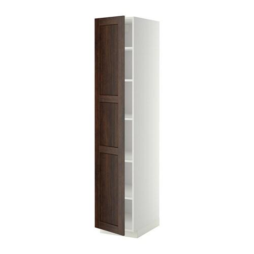 metod armoire avec tablettes blanc edserum effet bois brun 40x60x200 cm ikea. Black Bedroom Furniture Sets. Home Design Ideas