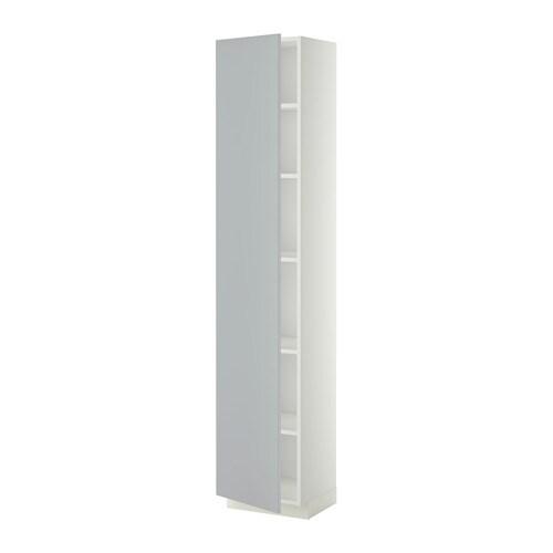 metod armoire avec tablettes blanc veddinge gris 40x37x200 cm ikea. Black Bedroom Furniture Sets. Home Design Ideas