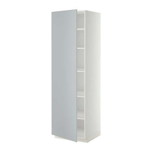 metod armoire avec tablettes blanc veddinge gris 60x60x200 cm ikea. Black Bedroom Furniture Sets. Home Design Ideas