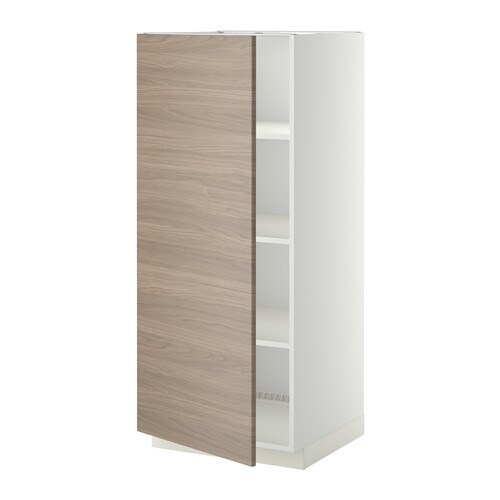 metod armoire avec tablettes blanc brokhult motif noyer gris clair ikea. Black Bedroom Furniture Sets. Home Design Ideas