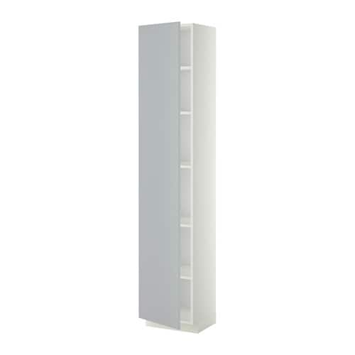 metod armoire avec tablettes blanc 40x37x200 cm veddinge gris ikea. Black Bedroom Furniture Sets. Home Design Ideas