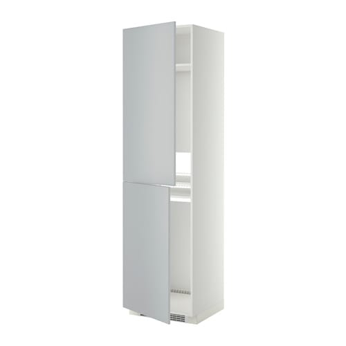 metod armoire pour r frig cong lateur blanc veddinge gris 60x60x220 cm ikea. Black Bedroom Furniture Sets. Home Design Ideas