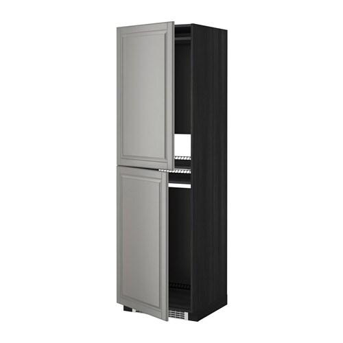 metod armoire pour r frig cong lateur effet bois noir bodbyn gris 60x60x200 cm ikea. Black Bedroom Furniture Sets. Home Design Ideas