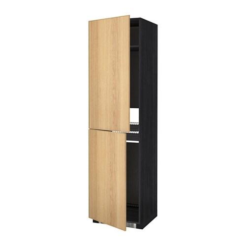 metod armoire pour r frig cong lateur effet bois noir ekestad ch ne 60x60x220 cm ikea. Black Bedroom Furniture Sets. Home Design Ideas