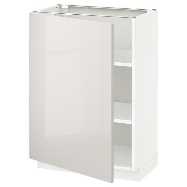 METOD élément bas avec tablettes blanc/Ringhult gris clair 60.0 cm 39.4 cm 88.0 cm 37.0 cm 80.0 cm