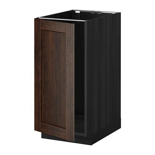 metod l bs vier tri effet bois noir edserum effet bois brun ikea. Black Bedroom Furniture Sets. Home Design Ideas