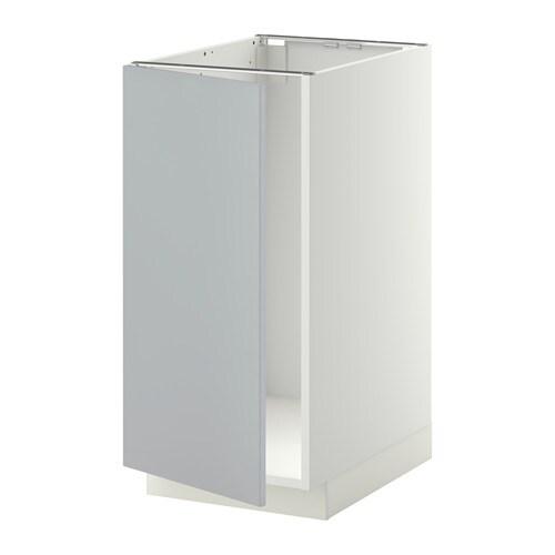 Metod L Bs Vier Tri Blanc Veddinge Gris Ikea