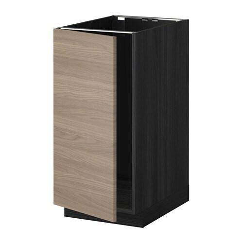 metod l bs vier tri effet bois noir brokhult motif. Black Bedroom Furniture Sets. Home Design Ideas