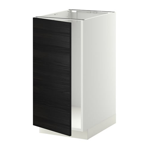 metod l bs vier tri blanc tingsryd effet bois noir ikea. Black Bedroom Furniture Sets. Home Design Ideas
