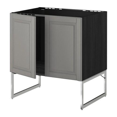 metod l vier 2 ptes effet bois noir bodbyn gris ikea. Black Bedroom Furniture Sets. Home Design Ideas