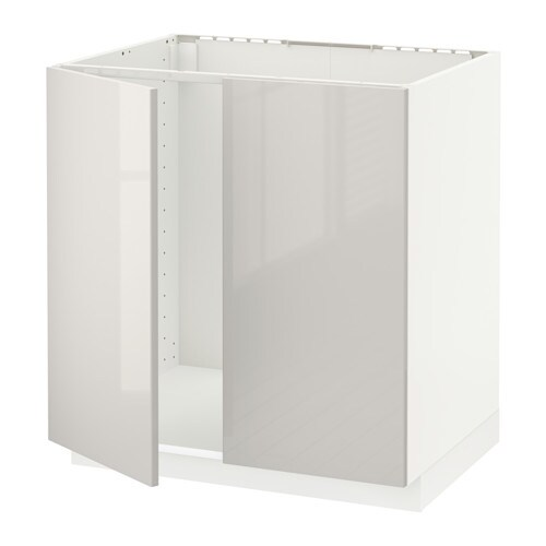 metod l vier 2 ptes blanc ringhult brillant gris clair ikea. Black Bedroom Furniture Sets. Home Design Ideas