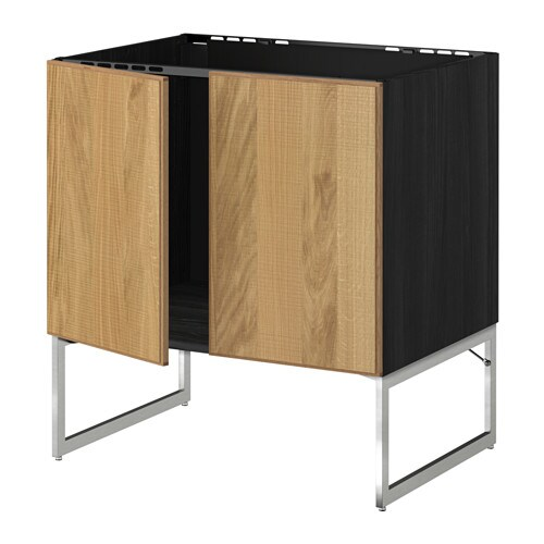 metod l vier 2 ptes effet bois noir hyttan plaqu ch ne ikea. Black Bedroom Furniture Sets. Home Design Ideas