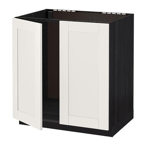 metod l vier 2 ptes effet bois noir s vedal blanc ikea. Black Bedroom Furniture Sets. Home Design Ideas