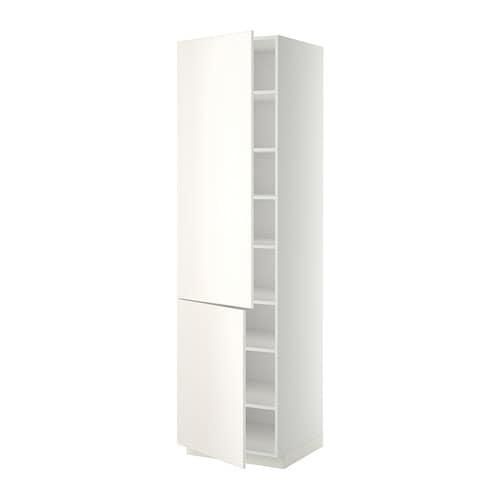 metod l ht tablette 2ptes blanc veddinge blanc 60x60x220 cm ikea. Black Bedroom Furniture Sets. Home Design Ideas