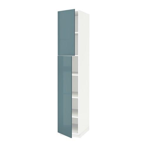metod l ht tablette 2ptes blanc kallarp brillant gris turquoise 40x60x220 cm ikea. Black Bedroom Furniture Sets. Home Design Ideas