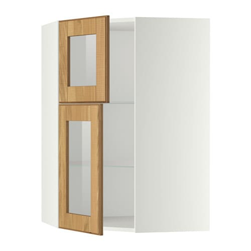 metod l mur angle tabl 2 ptes verre blanc hyttan plaqu ch ne ikea. Black Bedroom Furniture Sets. Home Design Ideas