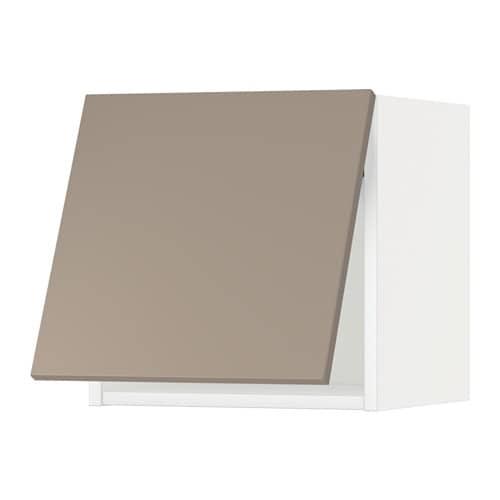 Metod l mur horiz blanc ubbalt beige fonc 40x40 cm for Cuisine ubbalt ikea