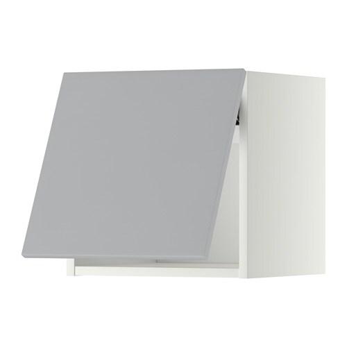 Metod L Mur Horiz Blanc Veddinge Gris 40x40 Cm Ikea