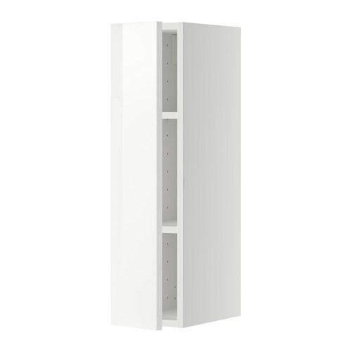 METOD Él mur+tabls - blanc, Ringhult brillant blanc, 20x80 cm - IKEA