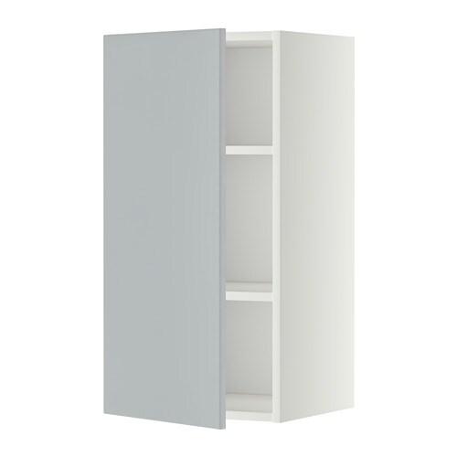 Metod L Mur Tabls Blanc Veddinge Gris 40x80 Cm Ikea
