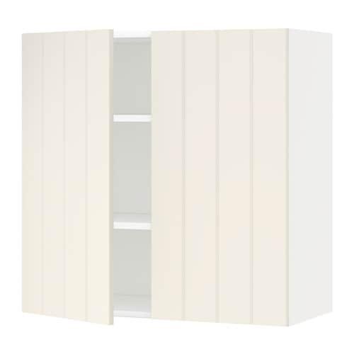 Metod l mur tbls 2p blanc hittarp blanc cass 80x80 - Mur blanc casse ...