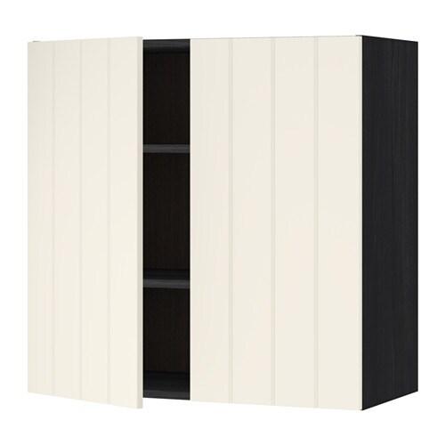 Metod l mur tbls 2p effet bois noir hittarp blanc - Mur blanc casse ...