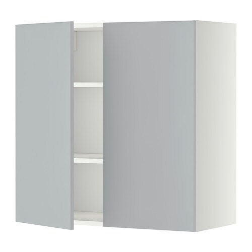 Metod L Mur Tbls 2p Blanc Veddinge Gris 80x80 Cm Ikea